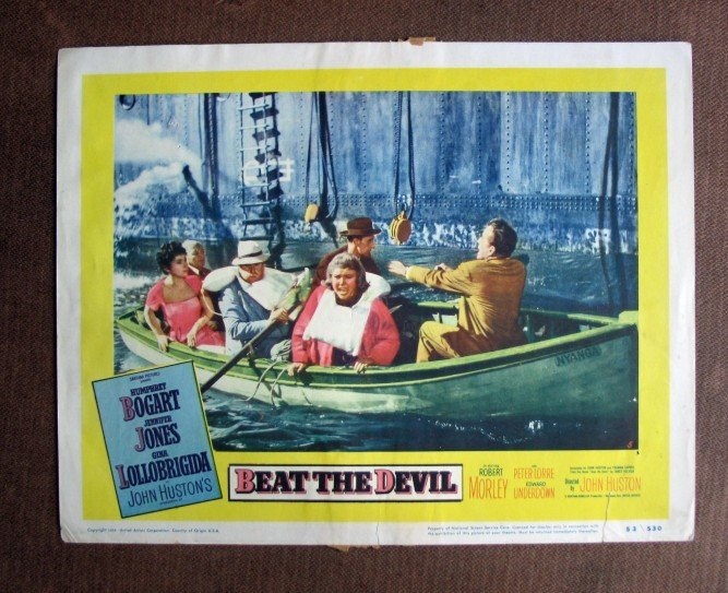 BU14 Beat The Devil HUMPHREY BOGART and JENNIFER JONES Lobby Card
