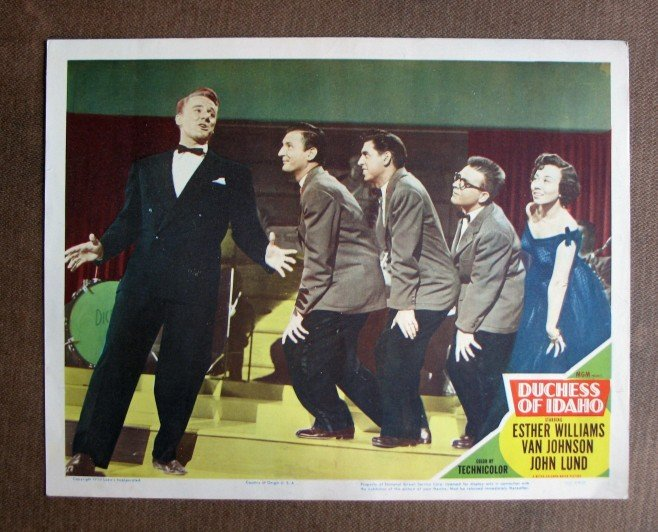 BU20 Duchess Of Idaho VAN JOHNSON Original 1950 Lobby Card