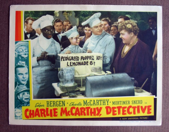 BV13 CHARLIE McCARTHY DETECTIVE Edgar Bergen and Charlie McCarthy Lobby Card