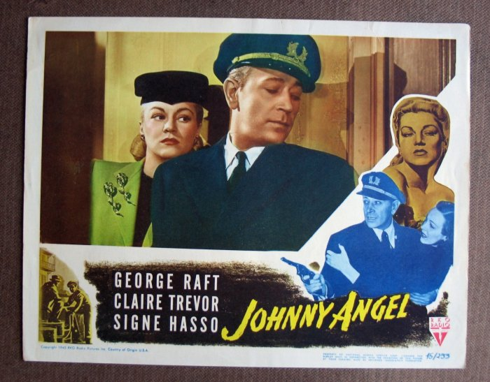 BV21 Johnny Angel GEORGE RAFT Film Noir 1945 Lobby Card
