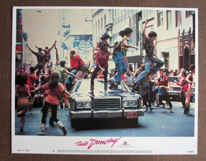 BV40 That's Dancing IRENE CARA Original 1984 Lobby Card