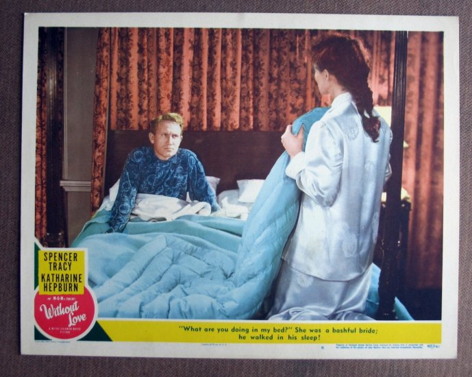 BV47 Without Love KATHARINE HEPBURN and SPENCER TRACY 1944 Lobby Card