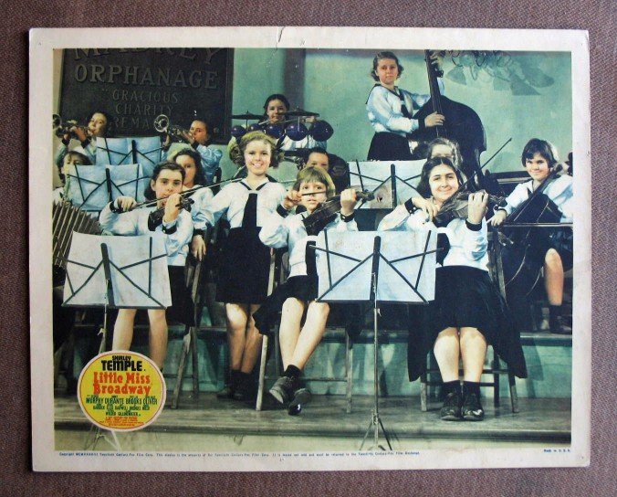 BW23 Little Miss Broadway SHIRLEY TEMPLE 1938 Lobby Card