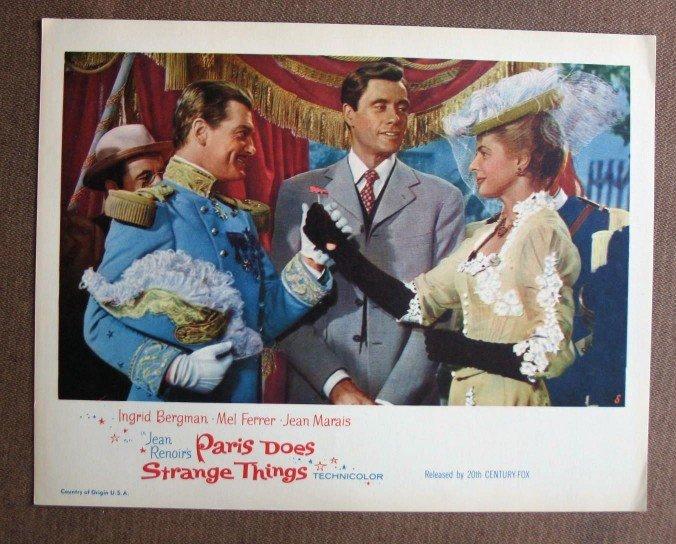 BW33 Paris Does Strange Things INGRID BERGMAN and MEL FERRER Lobby Card