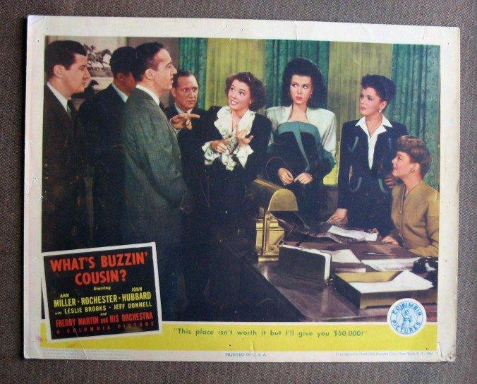 BW50 What's Buzzin' Cousin ANN MILLER 1943 Lobby Card