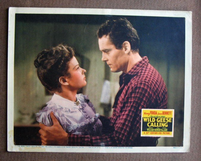 BW53 Wild Geese Calling HENRY FONDA and  JOAN BENNETT Lobby Card