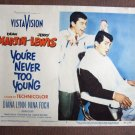 BW56 Never Too Young DEAN MARTIN and JERRY LEWIS Lobby Card