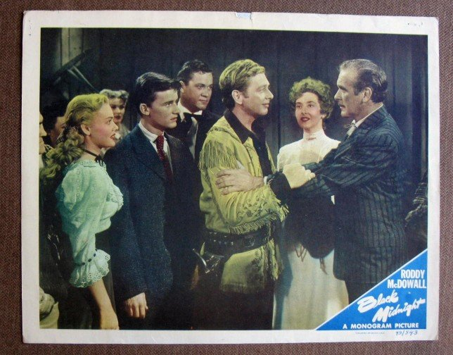 BX05 Black Midnight RODDY McDOWALL Original 1949 Lobby Card