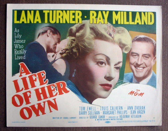BX28 Life Of Her Own LANA TURNER Original 1950 Title Card