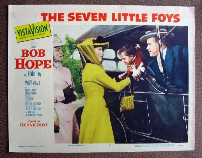 BX41 Seven Little Foys BOB HOPE Original 1955 Lobby Card
