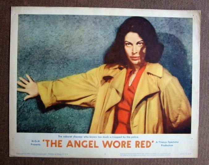 BY02 Angel Wore Red AVA GARDNER 1960 Portrait Original  Lobby Card
