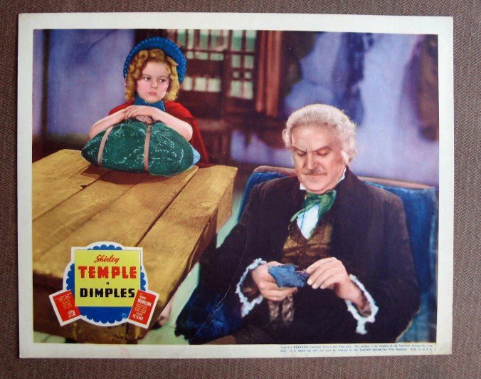 BY12 Dimples SHIRLEY TEMPLE and FRANK MORGAN 1936 Original Lobby Card