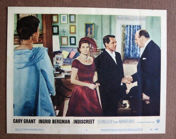BY23 Indiscreet CARY GRANT and INGRID BERGMAN Original 1958 Lobby Card
