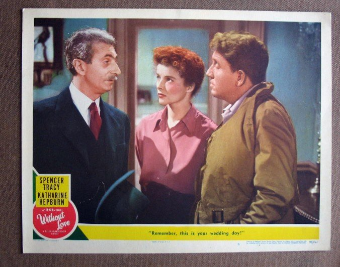 BY50 Without Love KATHARINE HEPBURN and SPENCER TRACY Original 1945 Lobby Card