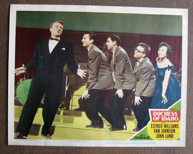 BZ12 Duchess of Idaho VAN JOHNSON Original 1950 Lobby Card