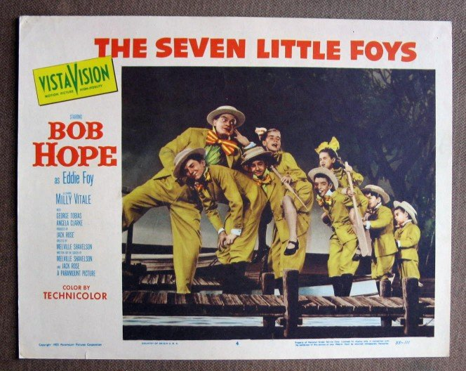 BZ40 Seven Little Foys BOB HOPE Original 1955 Lobby Card