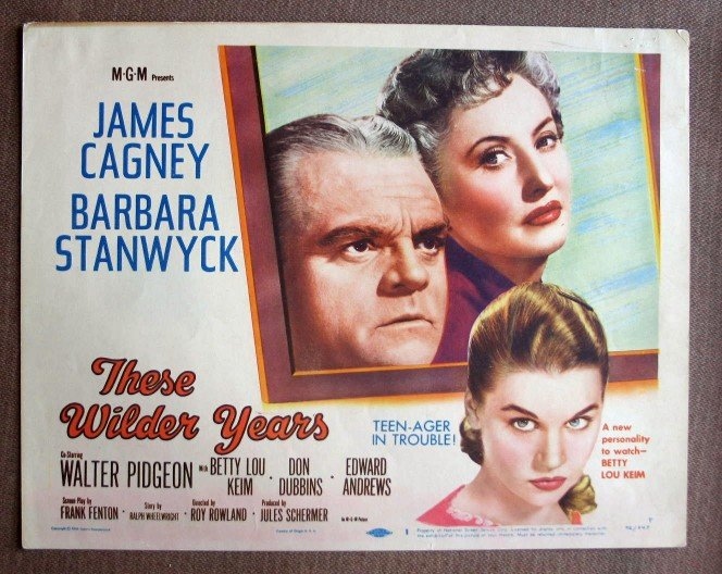 BZ43 WILDER YEARS James Cagney and Barbara Stanwyck 1956 Lobby Card