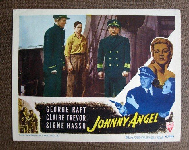 BU29 Johnny Angel GEORGE RAFT and CLAIRE TREVOR Lobby Card