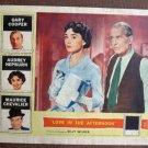 BZ24 Love In Afternoon AUDREY HEPBURN 1957 Lobby Card