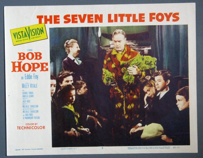 BD38 Seven Little Foys BOB HOPE ORIGINAL 1955 Lobby Card
