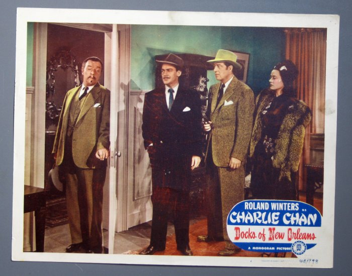 BF18 Charlie Chan Docks New Orleans ROLAND WINTERS Lobby Card