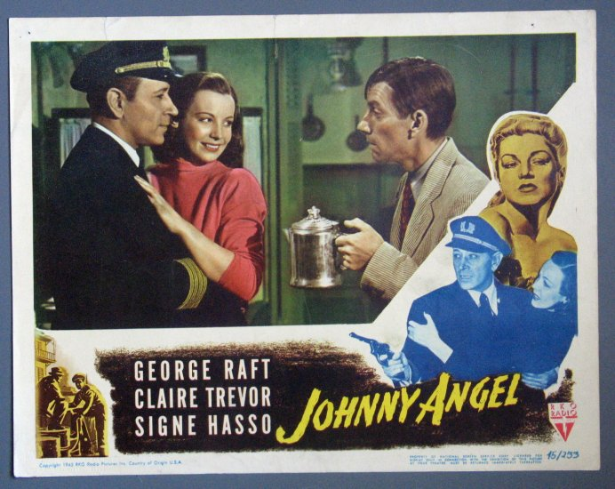 BD24 Johnny Angel GEOriginalE RAFT and CLAIRE TREVOR Lobby Card
