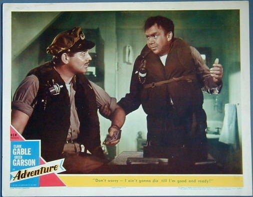 ADVENTURE Clark Gable orig '54 LC