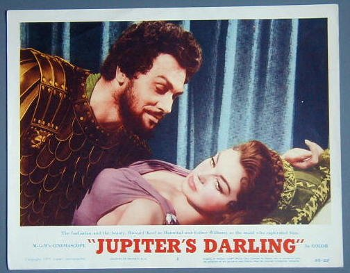 JUPITERS DARLING Esther Williams orig '55 lobby card