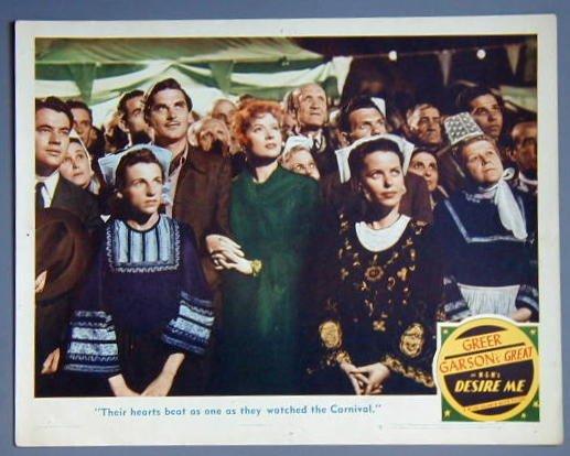 DESIRE ME Greer Garson original 1947 lobby card