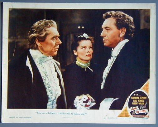 SONG OF LOVE Katharine Hepburn orig '47 lobby card