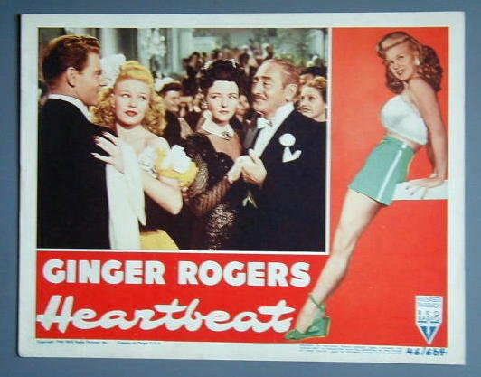 HEARTBEAT Ginger ROgers orig '46 lobby card