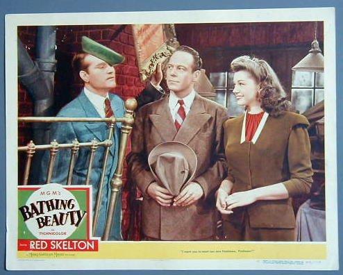 BATHING BEAUTY R Skelton/Esther Williams '44 lobby card