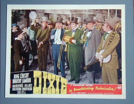 DIXIE  Bing Crosby orig 1943 lobby card