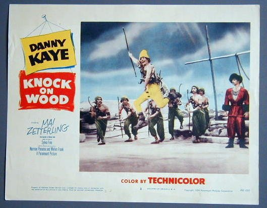 KNOCK ON WOOD Danny Kaye orig '54 lobby card