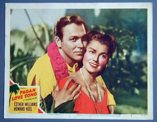 PAGAN LOVE SONG Esther Williams portrait '50 lobby card