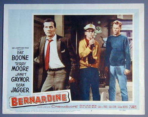 BERNARDINE Pat Boone original 1957 lobby card