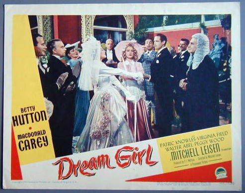 DREAM GIRL   Betty Hutton orig '48 lobby card