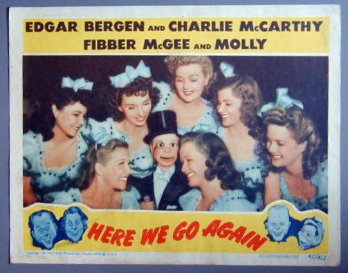 HERE WE GO AGAIN Charlie McCarthy orig '42 LC