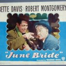 JUNE BRIDE Bette Davis orig 1948 lobby card