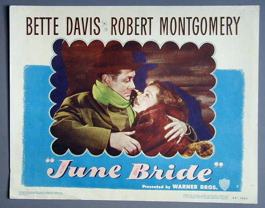 JUNE BRIDE Bette Davis orig '48 lobby card
