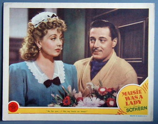 MAISIE WAS A LADY Ann Sothern orig '41 LC