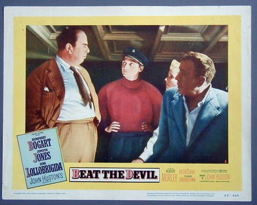 BEAT THE DEVIL Humphrey Bogart original '53 lobby card