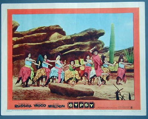 "GYPSY Rosalind Russell """"Madame Rose's Toreadors"""" '62 Lobby Card"