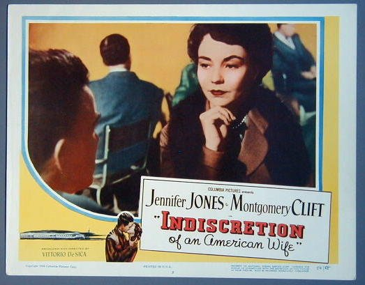INDISCRETION OF AN AMERICAN WIFE Jennifer Jones '54 Lobby Card