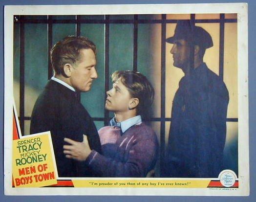 MEN OF BOYS TOWN Rooney/Tracy TERRIFIC '41 Lobby Card