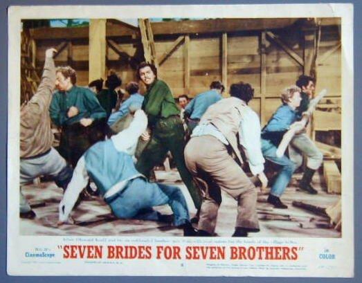 SEVEN BRIDES FOR SEVEN BROTHERS Howard Keel original 54  Lobby Card