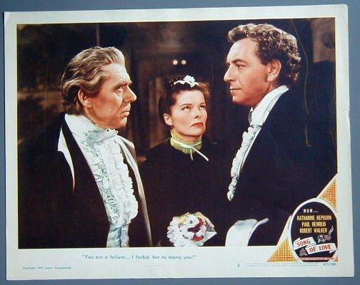 SONG OF LOVE Katharine Hepburn original '47 lobby card