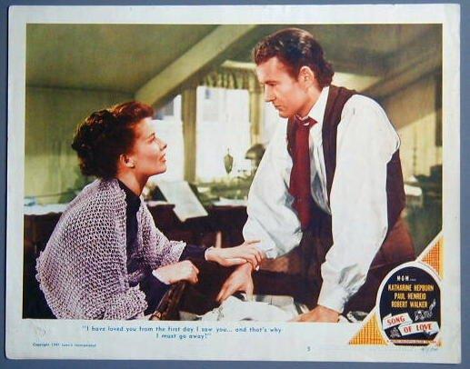 SONG OF LOVE Katharine Hepburn/Robert Walker '47 Lobby Card