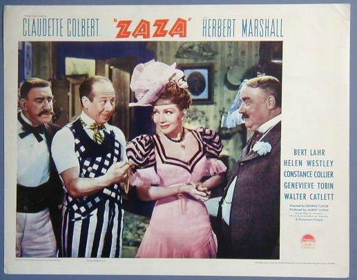ZAZA Claudette Colbert/Bert Lahr GREAT original 1938  Lobby Card