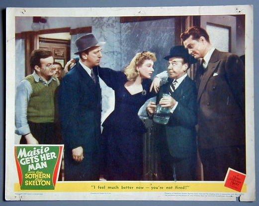 MAISIE GETS HER MAN Ann Sothern original 1942 Lobby Card